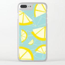 Lemon Wedges Clear iPhone Case