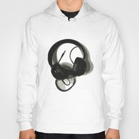 headphones Hoodies featuring Headphones by GoAti