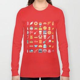 CUTE BAKERY PATTERN (CUTE CHEF BAKER) Long Sleeve T-shirt