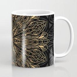 MANDALA IN BLACK AND GOLD Coffee Mug