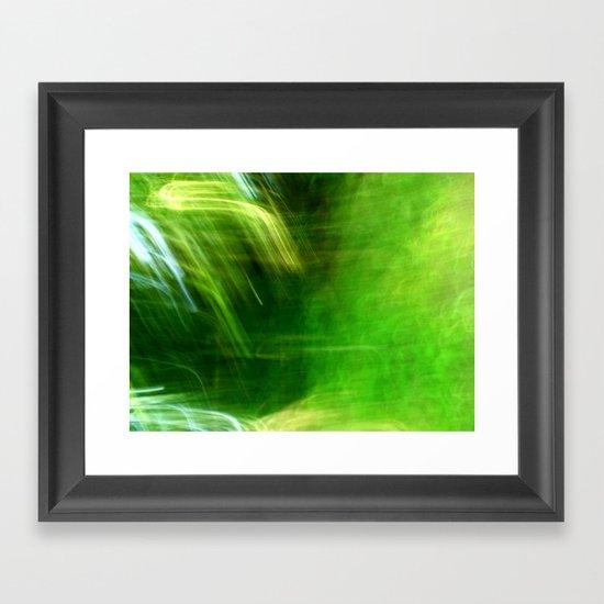 Green Grass Tunnel Framed Art Print