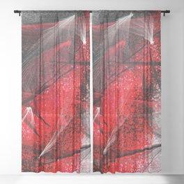 under the spotlight abstract digital painting Sheer Curtain