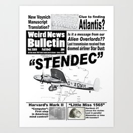 Weird News Bulletin Issue 1359 Art Print