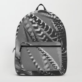Zebra Haworthia (Stripes in Black and White) Backpack