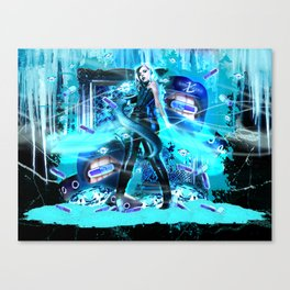 XSuperModels x MonnieNight GlitterFreeze Dose of Frost Canvas Print