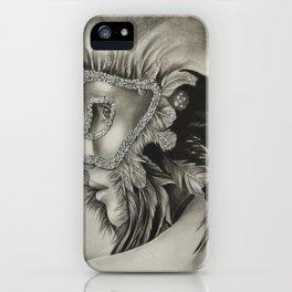 masquerade mask girl iPhone Case