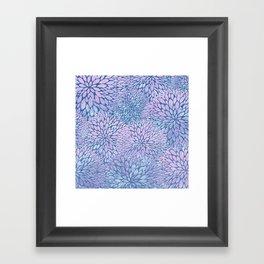 Frozen Petals Framed Art Print