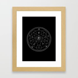 The Eye of the Witch Framed Art Print