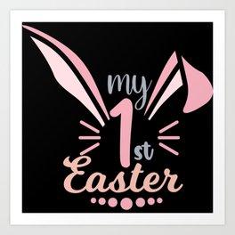 My 1st easter cute bunny ears gift for girls Art Print