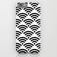 WiFi Pattern (black on white) iPhone 6s Slim Case