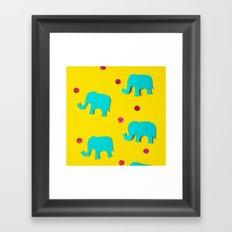 Playful Elephants Framed Art Print