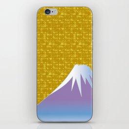 Mt.Fuji on Gold-leaf Screen iPhone Skin