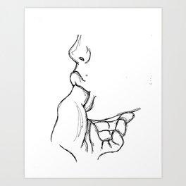 Lick my finger Art Print