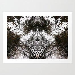 Abstract Tree Art 01 Art Print