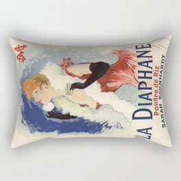 Belle Epoque vintage poster, Sarah Bernhardt, La Diaphane Rectangular Pillow