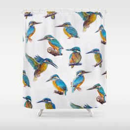 kingfishers. Shower Curtain