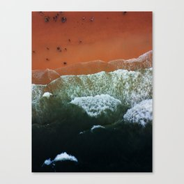 Seaside from the sky Canvas Print