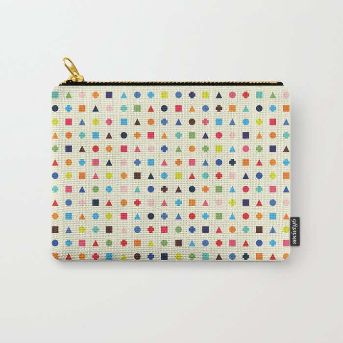 Dot Triangle Square Plus Repeat Carry-All Pouch
