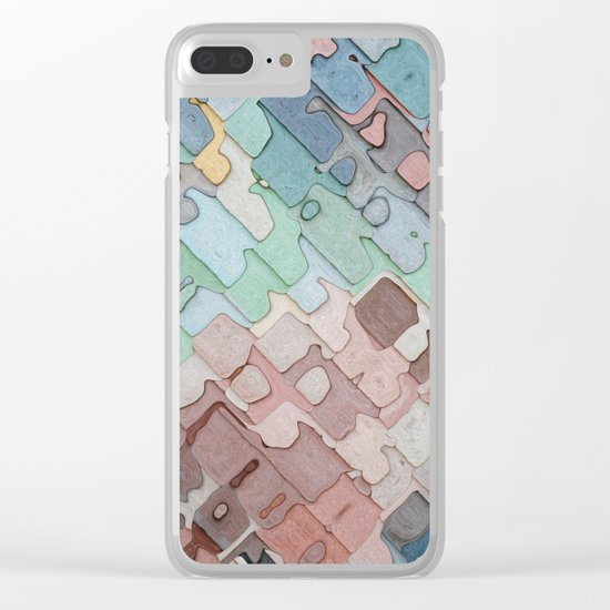 Colorful Layers Pattern Clear iPhone Case