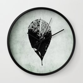 leaf skeleton Wall Clock