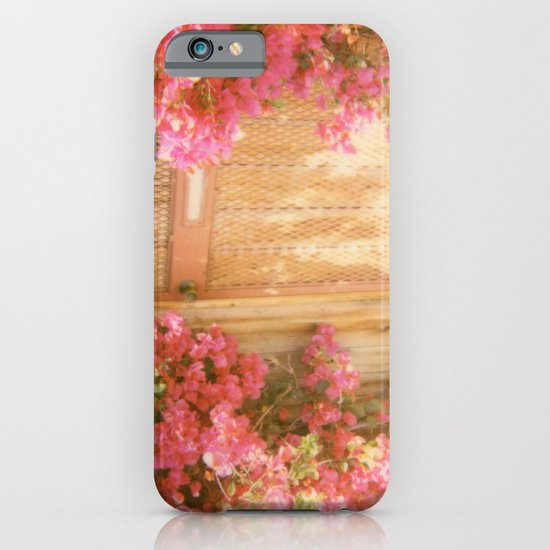 California Bougainvillea Retro Polaroid Print iPhone & iPod Case