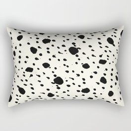 Tribal Dot Black Earth on Ivory Rectangular Pillow