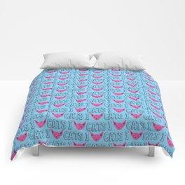 I love cats Comforters