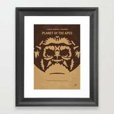 No270 My PLANET OF THE APES minimal movie poster Framed Art Print