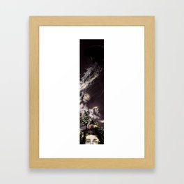 Self portrait with Jellyfishes Framed Art Print