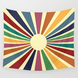 Sun Retro Art II Wall Tapestry