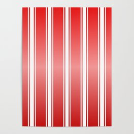 Red Racing Stripes Poster