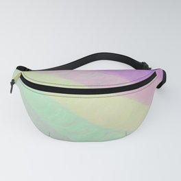 Hand painted geometrical pink lavender watercolor ombre stripes Fanny Pack