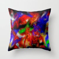 psych Throw Pillows featuring Psych out by JT Digital Art