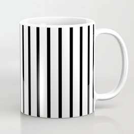 Black and White Vertical Stripes - Version 2 Coffee Mug