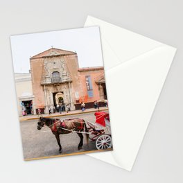 Horse Carriage in Downtown Merida, Mexico Stationery Cards