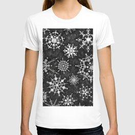 Gray Snowflakes T-shirt