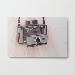 Pink Prom Dress + Polaroid = LOVE Metal Print