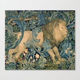 """William Morris """"Forest - Lion"""" Canvas Print"""