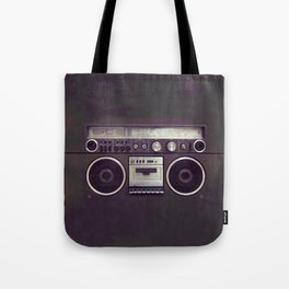 Retro Boombox Tote Bag