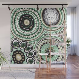 Green and Gold Rings Wall Mural