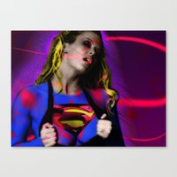 supergirl Canvas Prints featuring Supergirl by EarlyHuman