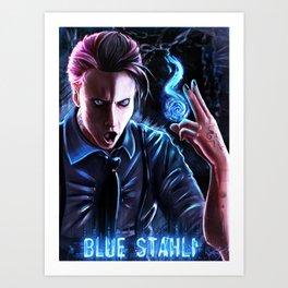 Blue Stahli Art Print