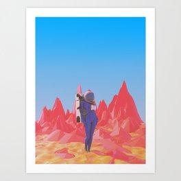 Cosmonaut.2. Art Print