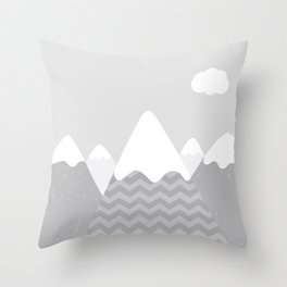 Alpine Mountains Throw Pillow