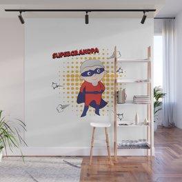 Super Grandpa Wall Mural