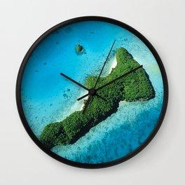Palau Tropical Island: A Romantic, Secret Paradise Wall Clock