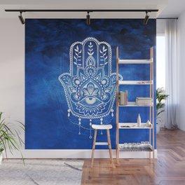 Blue Mandala Hamsa Wall Mural