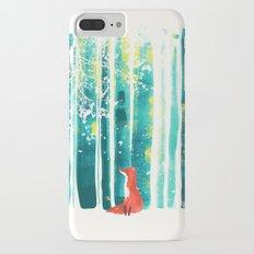 Fox in quiet forest iPhone 7 Plus Slim Case