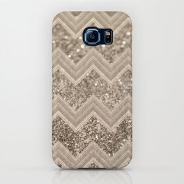 Sepia Glitter Chevron #1 #shiny #decor #art #society6 iPhone Case