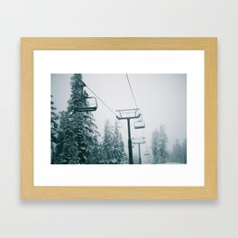 Ski Lift II Framed Art Print